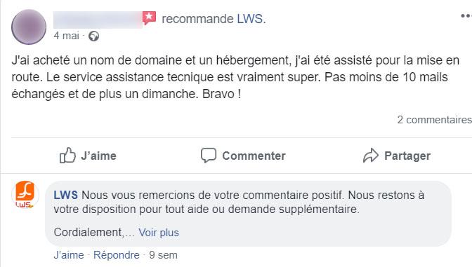 Recommandation LWS